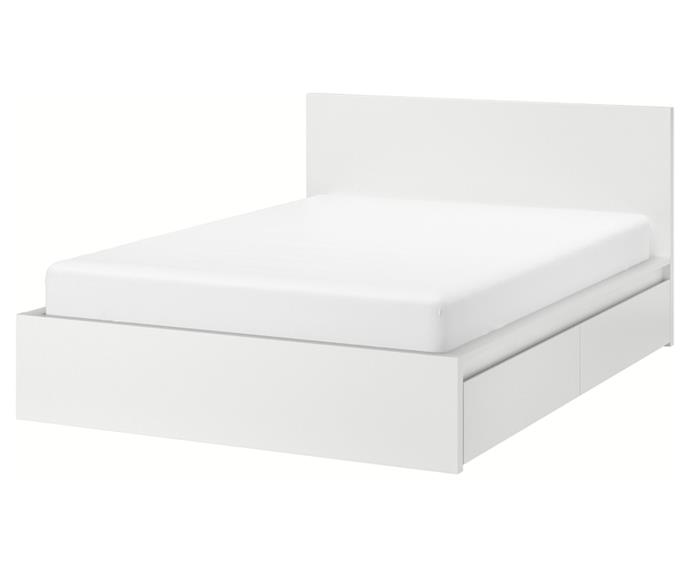 """**[Malm bed frame, from $409 (double), Ikea](https://www.ikea.com/au/en/p/malm-bed-frame-high-w-4-storage-boxes-white-luroey-s69009507/