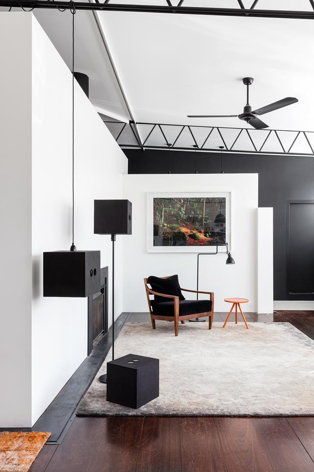 "Interior designer Stephen Collins imbued this [sleek, utilitarian space](https://www.homestolove.com.au/a-warehouse-conversion-goes-back-to-its-utilitarian-roots-5798|target=""_blank"") with soft elegance while playing up its industrial origins. The space now provides a light-filled haven with plenty of warmth and ventilation. It is peaceful, private, light-filled; a place where it's easy to disengage from the flurry of inner-city living."
