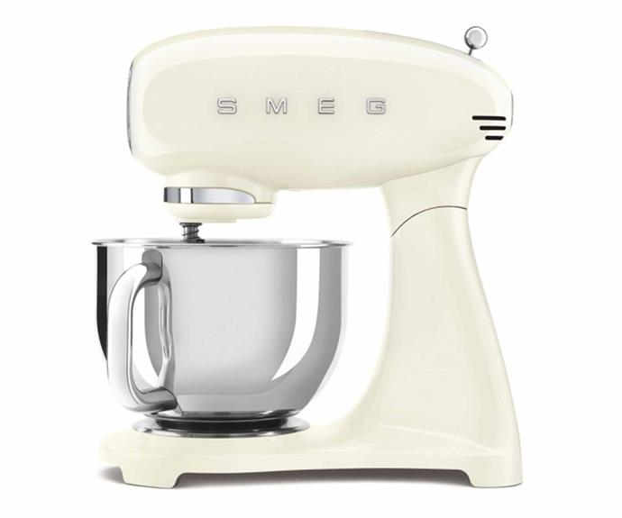 """**Smeg Retro Stand Mixer, $639, [The Good Guys](https://www.thegoodguys.com.au/smeg-50s-retro-style-mixer---cream-smf02crau