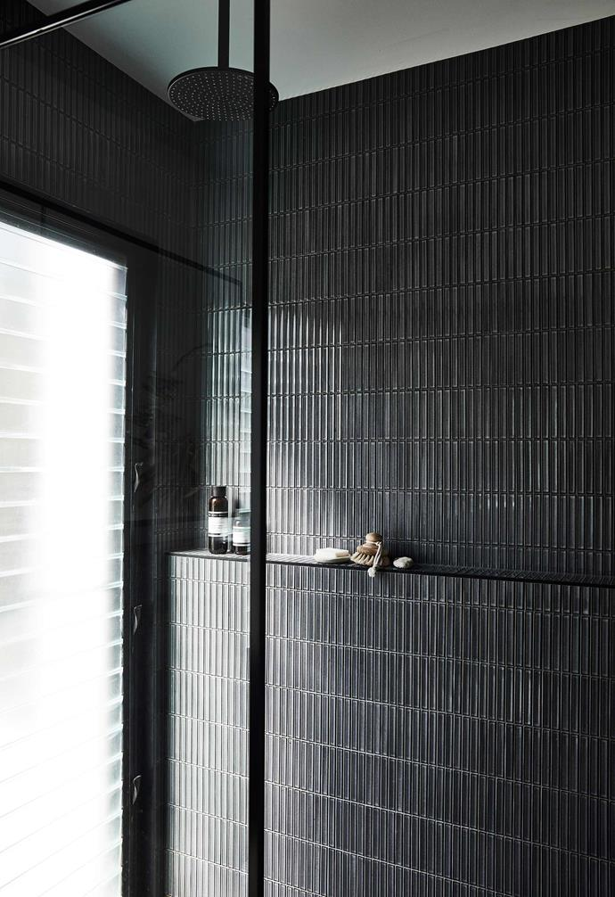 """**Ensuite** The shower features [Di Lorenzo](https://dilorenzo.com.au/