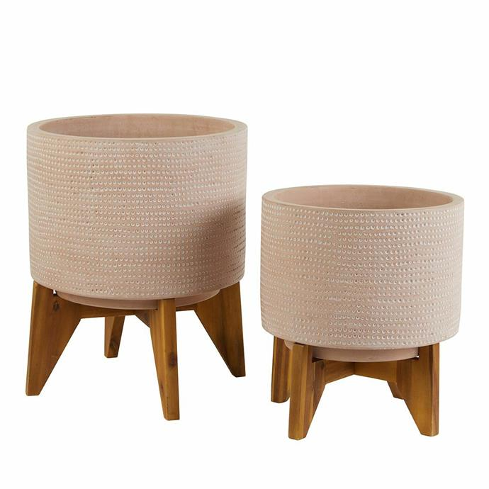 """**Averi Planter with Wooden Stand, from $59.95, [Freedom](https://www.freedom.com.au/product/24292054
