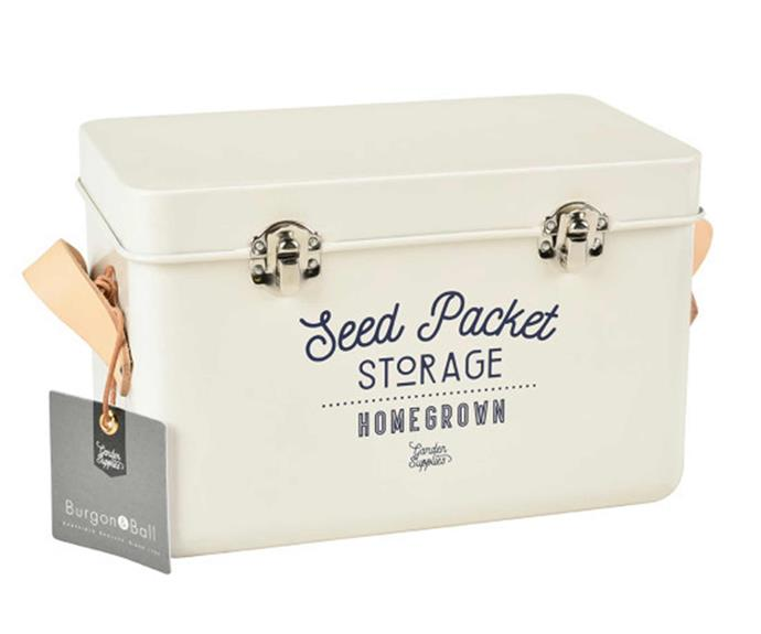 """**Burgon & Ball Seed Packet storage tin, $66.95, [Hard to Find](https://www.hardtofind.com.au/169014_burgon-ball-seed-packet-storage-tin