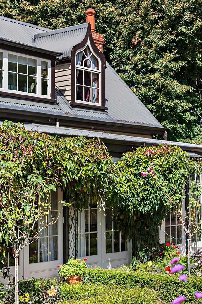 Vines adorn the verandah.