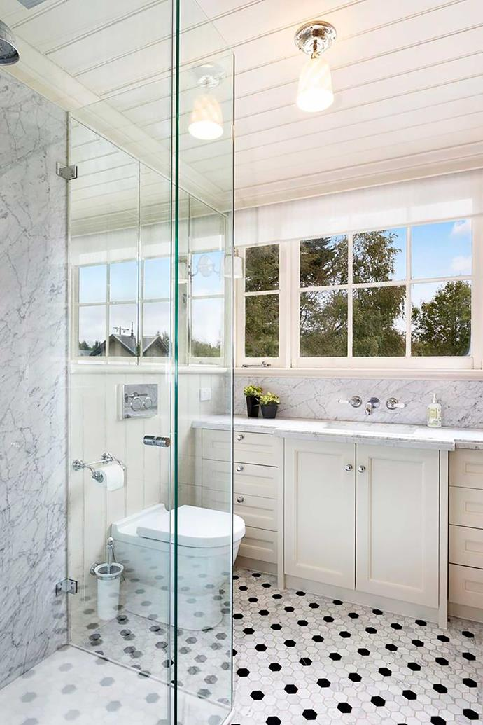A marble ensuite bathroom adjoins every bedroom.