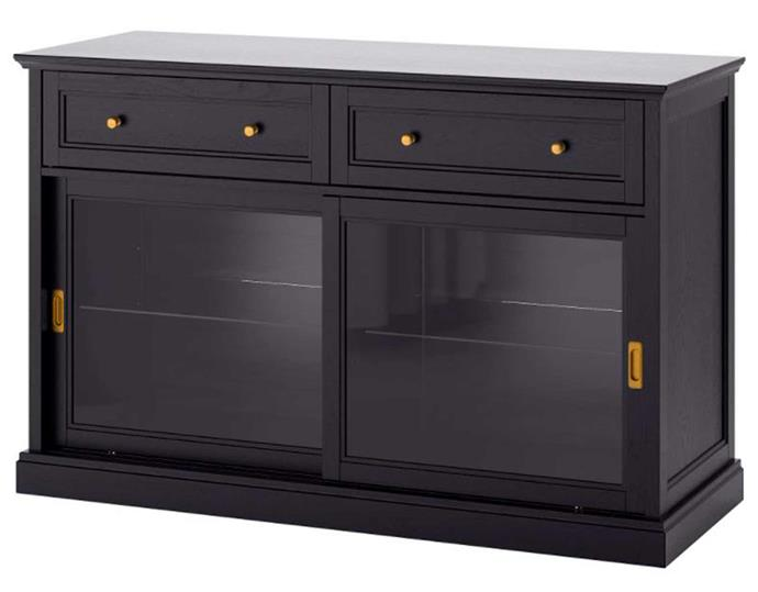 """**MALSJO sideboard basic unit, $649, [IKEA](https://www.ikea.com/au/en/p/malsjoe-sideboard-basic-unit-black-stained-80327773/