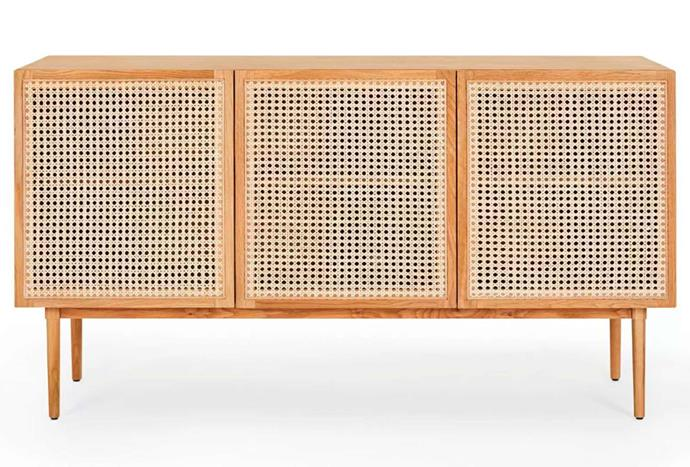 """**Tara Sideboard, $1299, [Lounge Lovers](https://www.loungelovers.com.au/tara-rattan-sideboard