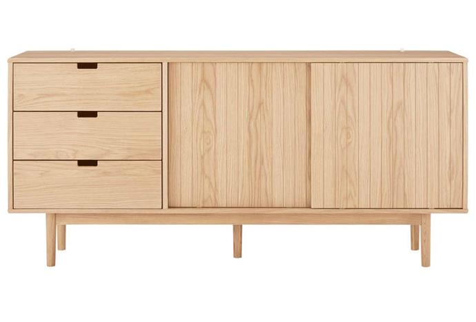 """**Amager Sideboard, $889, [Matt Blatt](https://www.mattblatt.com.au/mb/buy/matt-blatt-amager-sideboard-oak-matt-blatt/