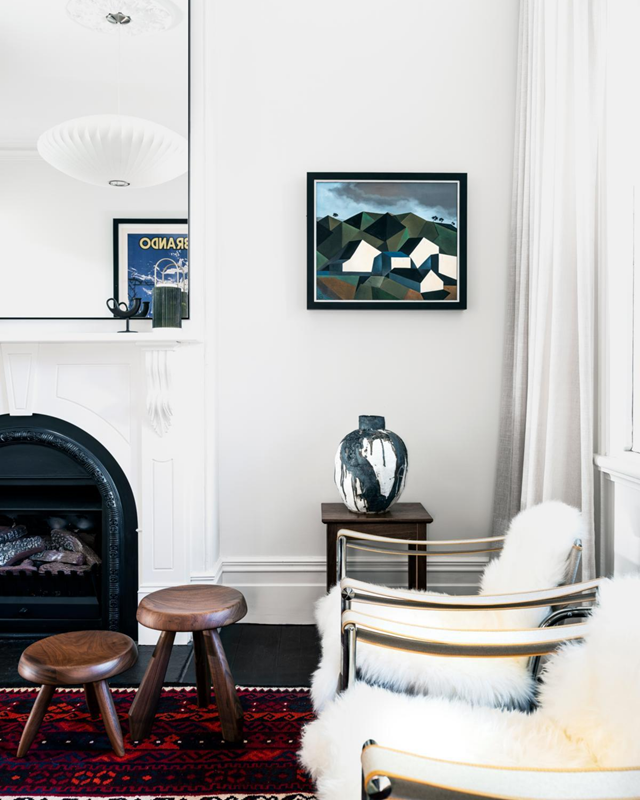 "A joint effort between Tom Ferguson and the owner, furnishings in this [Victorian terrace](https://www.homestolove.com.au/victorian-era-terrace-modernist-update-21694|target=""_blank"") include quirky and modernist pieces in contrast with the home's original features."
