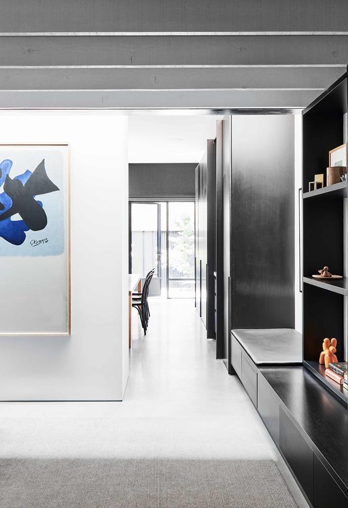 "**Living** The rug was custom-coloured by [Behruz Studio](https://www.behruzstudio.com/|target=""_blank""|rel=""nofollow"") to match the concrete."