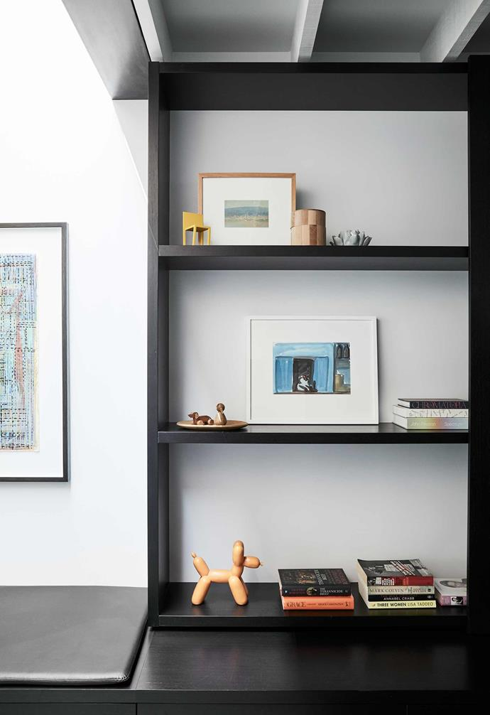 """**Shelves** Light pours onto this semi-internal space and shelving via another well-placed skylight. Balloon dog, [IMM Living](https://imm-living.com/