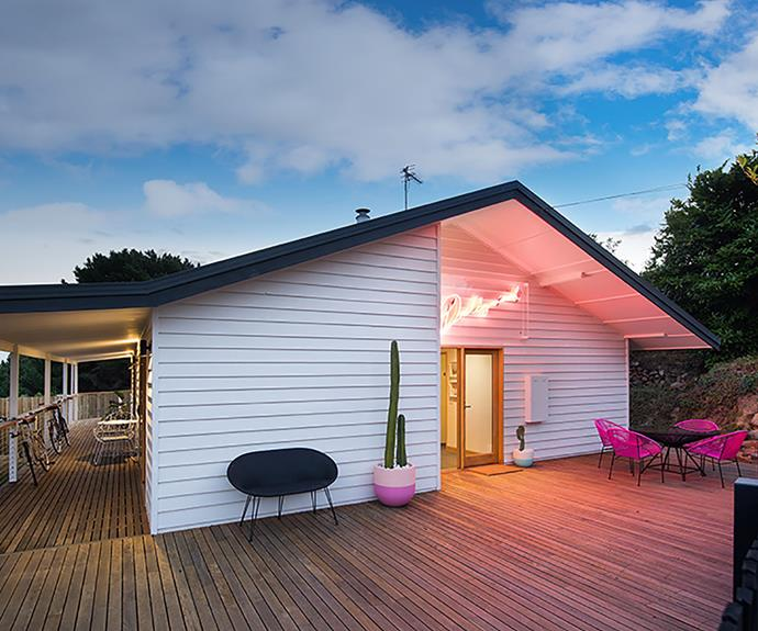 """A wide, wrap-around verandah creates plenty of space for the kids to play outdoors.""""We love going on hikes with the kids,"""" she says. """"Daylesford is filled with wonderful things to do and see."""""""