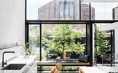 A Victorian-era terrace's modern monochrome extension