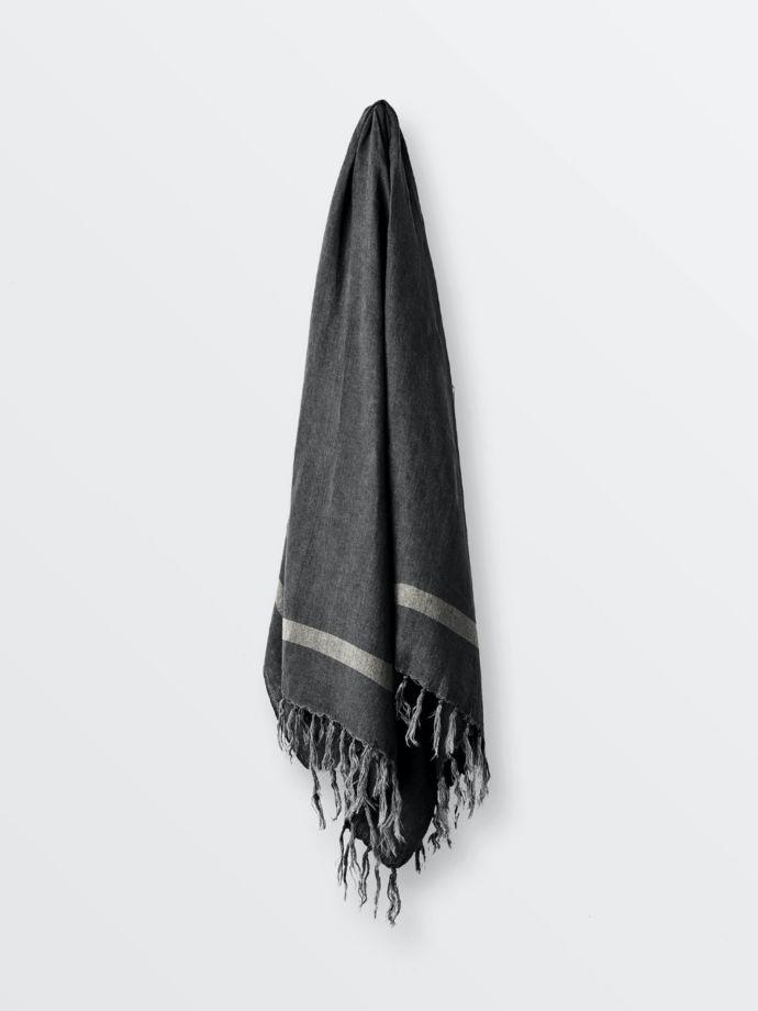 """Herringbone Throw in Charcoal, $169, [Aura Home](https://www.aurahome.com.au/herringbone-throw-charcoal