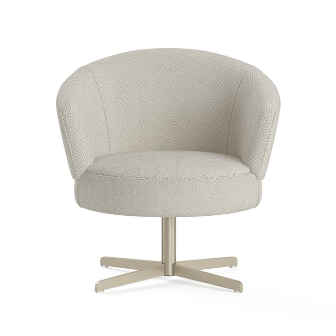 """**[Kubrick swivel accent chair, $624, Brosa](https://www.brosa.com.au/products/kubrick-swivel-accent-chair?SKU=CHAKUB03SWHI