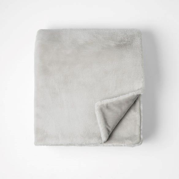 """Morgan & Finch Luxury Faux Fur Throw in Stone, $179.95, [Bed Bath N' Table](https://www.bedbathntable.com.au/fur-lux-stone-070103