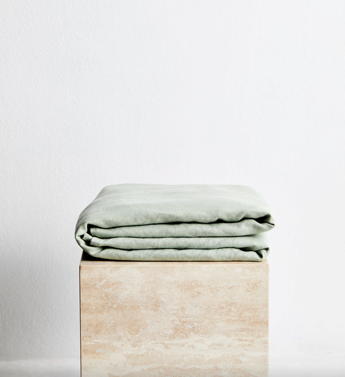 """Sage 100% French Flax Linen Throw, $180.00 - $240, [Bed Threads](https://bedthreads.com.au/products/sage-100-french-flax-linen-throw?variant=34883995598982