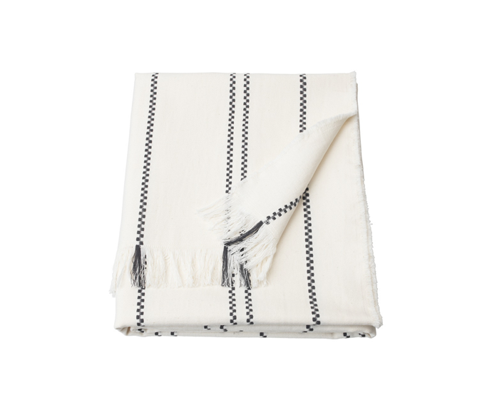 """Stinamaj Throw in white/dark grey 130x170 cm, $24.99, [IKEA](https://www.ikea.com/au/en/p/stinamaj-throw-white-dark-grey-50432676/