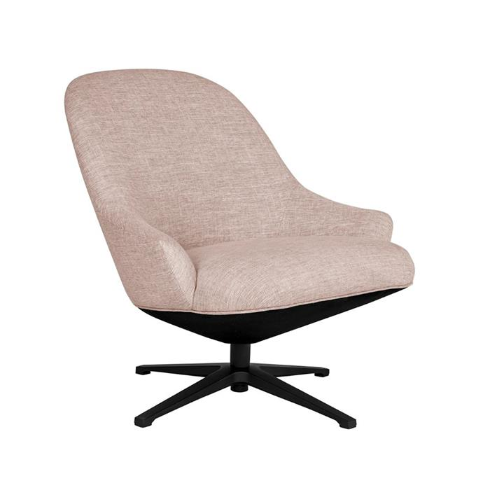 """**[Carter fabric swivel chair, $895, Life Interiors](https://lifeinteriors.com.au/collections/arm-chairs/products/life-interiors-carter-fabric-swivel-chair?variant=33264107782243