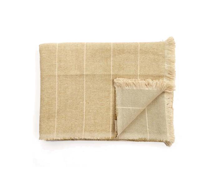 """Scott Cotton Throw, 170x130cm in Mustard, $79, [Living Styles](https://www.livingstyles.com.au/scott-cotton-throw-170x130cm-mustard/