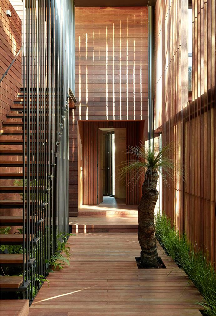 """Timber was key to the design of this [sustainable home in Melbourne](https://www.homestolove.com.au/sustainable-home-architecture-melbourne-21729