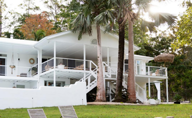 An expansive Noosa home with white on white interiors