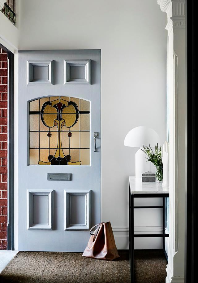 """Behind the leadlight front door of a classic [Edwardian house](https://www.homestolove.com.au/edwardian-house-interior-colours-19813