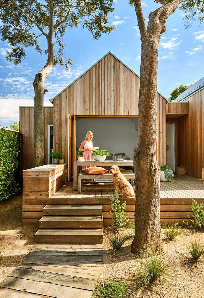 **Exterior** The timber cladding gives the home and effortlessly coastal look.