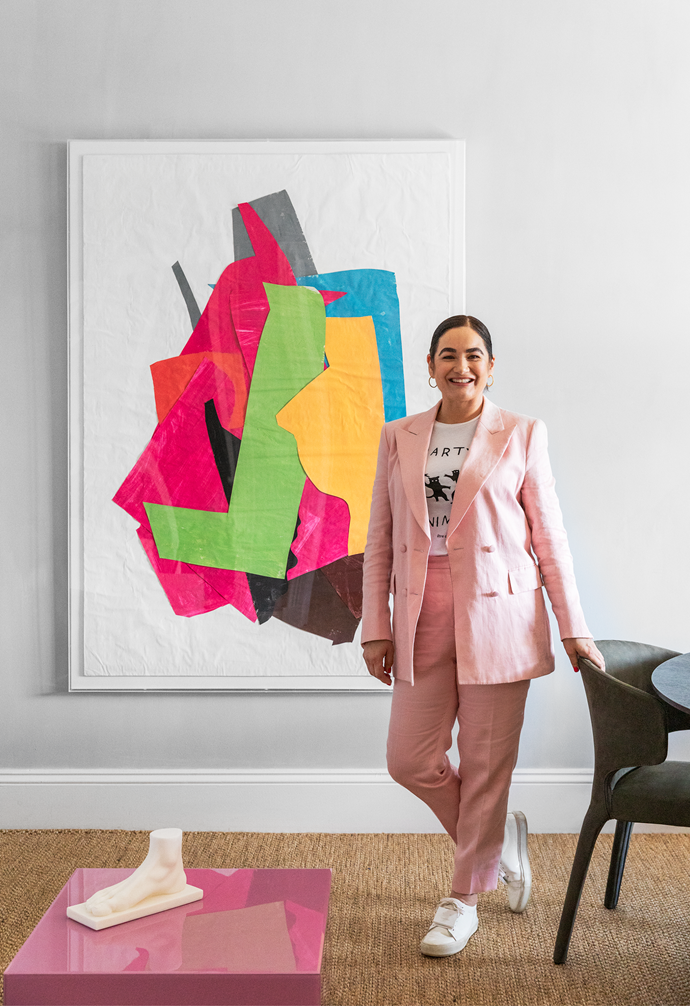 """Pictured in her eponymous studio's new Daylesford office, Chelsea says the demands we have on our houses can be contradictory. """"We want to be able to open up our homes in summer and close them down in winter... Flexibility is key."""""""