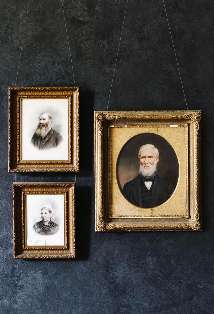 """In the dining room, portraits of all five family generations adorn the walls. """"It's a kind of history room for us,"""" says co-owner Anise."""
