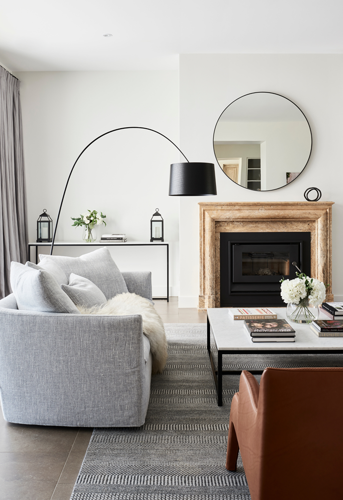 """An aura of calm permeates the beautifully decorated [living room](https://www.homestolove.com.au/living-room-essentials-3466