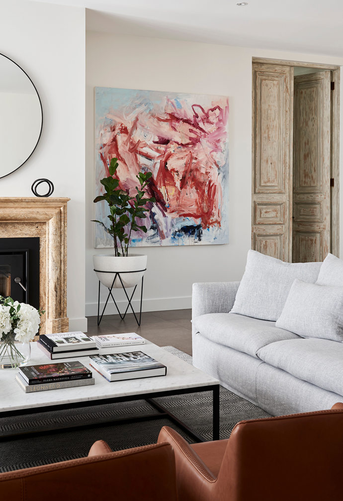 """A custom-made marble [coffee table](https://www.homestolove.com.au/10-of-the-best-coffee-tables-13248