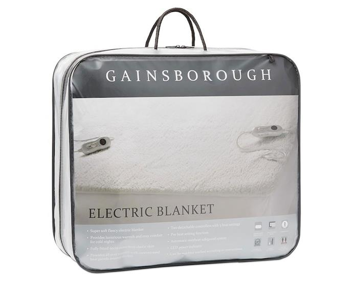 """**[Gainsborough electric blanket, $219.95 (King size), Adairs](https://www.adairs.com.au/bedroom/blankets/gainsborough/gainsborough-electric-blanket