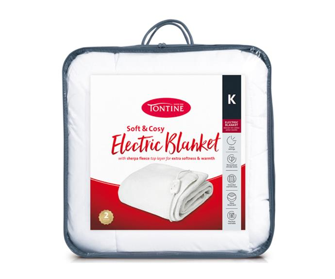 """**[Tontine Sherpa King electric blanket, $79 (Queen size), Catch.com.au](https://www.catch.com.au/product/tontine-sherpa-king-electric-blanket-5794268
