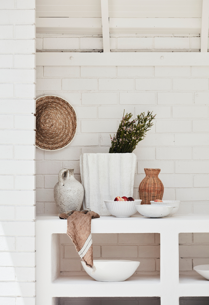 Ceramics were sourced from Wonki Ware and Coco Republic, while the towel is from Mamapapa.