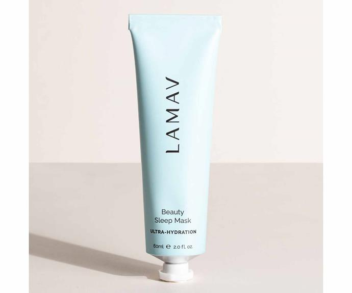"""**Beauty Sleep Mask, $59, [La Mav](https://lamav.com/collections/masks/products/beauty-sleep-mask?variant=39094650929303