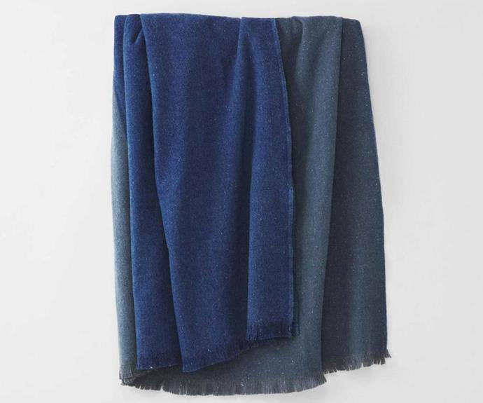 """**Grid Blanket, $499, [Sheridan](https://www.sheridan.com.au/waverley-blanket-s82d-b105-c224-703-royal-navy.html