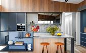 The colourful makeover of a red-brick semi in Five Dock