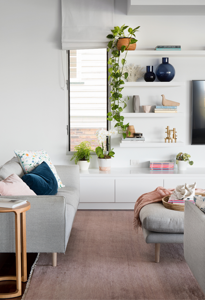 """In the serene [living area](https://www.homestolove.com.au/living-room-essentials-3466