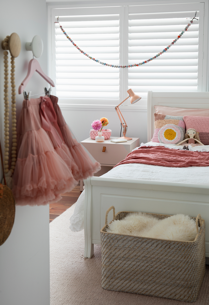 """Shades of pink appear in subtle and unexpected ways to lend a feminine touch throughout the home. """"Pink is Victoria's favourite colour, so we had fun with it but were careful not to overdo it,"""" explains interior designer Gabrielle of Berkeley Interiors."""