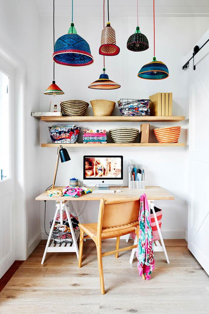 """The [colourful Byron Bay home](https://www.homestolove.com.au/coastal-cottage-byron-bay-20442