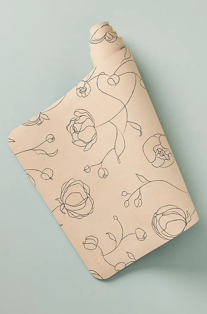 """**Kids Meditation Yoga Mat in Peony, $84, [Anthropologie](https://www.anthropologie.com/shop/kids-meditation-yoga-mat?category=SEARCHRESULTS&color=009&searchparams=q%3Dyoga%2520mat&type=STANDARD&size=One%20Size&quantity=1