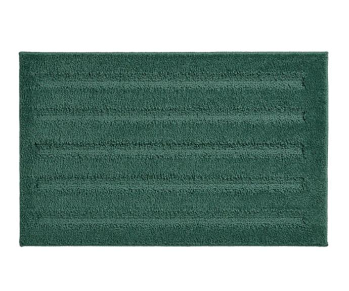 """**[Emten, $10, Ikea](https://www.ikea.com/au/en/p/emten-bath-mat-blue-green-20465526/ target=""""_blank"""" rel=""""nofollow"""")**<br> For those looking to inject a pop of colour into their bathroom without going overboard, Ikea's Emten mat in blue/green is a fantastic option. Soft, warm and pampering, this bath mat is a treat for your feet! The simple design with wave structure comes in several other shades that are easy to match with your favourite towels and accessories."""