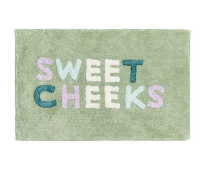 """**[Home Republic 'Sweet Cheeks' bath mat, $39.99, Adairs](https://www.adairs.com.au/bathroom/bath-mats/home-republic/sweet-cheeks-eucalyptus-multi-bath-mat/ target=""""_blank"""" rel=""""nofollow"""")**<br> This playful design is sure to make you smile each time you step out of your shower or bath. Made from ringspun combed cotton with a raised pile this bath mat is available in three other vibrant colourways. *Afterpay available*"""