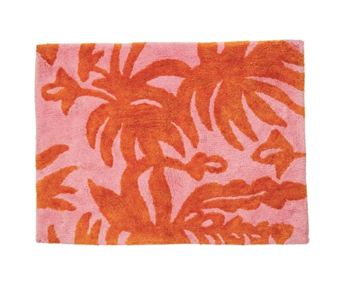 """**[Bonnie & Neil 'Leafy' bath mat, $79.90, Life Interiors](https://lifeinteriors.com.au/products/bonnie-neil-leafy-bath-mat?variant=33263337439331 target=""""_blank"""" rel=""""nofollow"""")**<br> Bring the tropics to your bathroom with this beautifully bright design that features an original artwork on tufted cotton. This mat is also available in green and yellow hues."""
