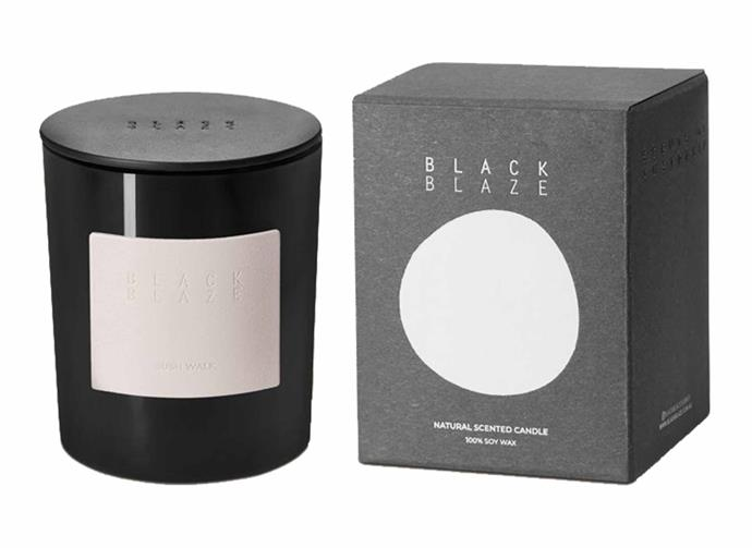 "**Bush Walk Scented Candle, $49, [Black Blaze](https://www.blackblaze.com.au/collections/candle/products/bush-walk-home-candle-winter-edition|target=""_blank""