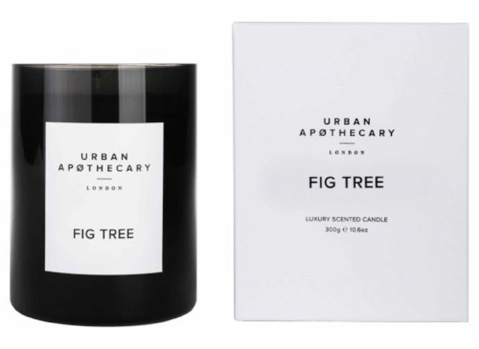 "**Urban Apothecary Fig Tree Candle, $65, [Adore Beauty](https://www.adorebeauty.com.au/urban-apothecary-london/urban-apothecary-fig-tree-candle-300g.html|target=""_blank""
