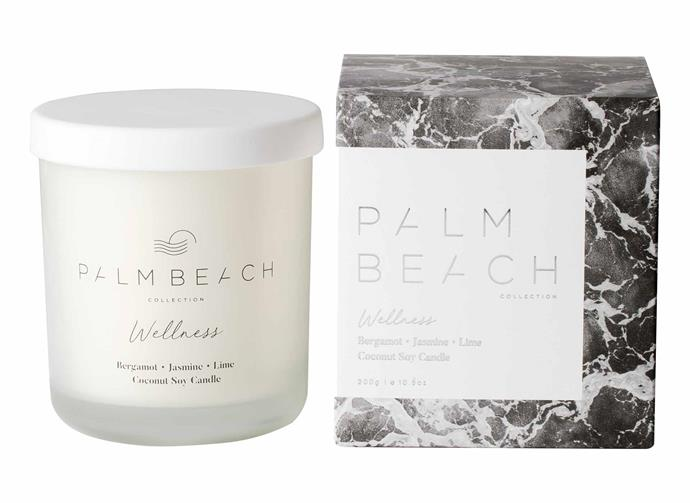 "**Bergamot, Jasmine & Lime Candle, $32.95, [Palm Beach](https://palmbeachcollection.com.au/collections/wellness/products/candle-bergamot-jasmine-lime|target=""_blank""
