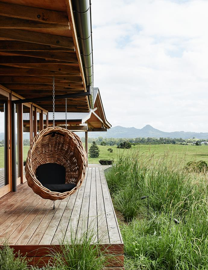 Uniqwa Collections 'Zulu' hanging chair from The Design Hunter.