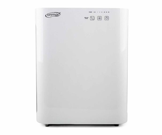 """**Ionmax Breeze Air Purifier, $259, [Catch](https://www.catch.com.au/product/ionmax-breeze-air-purifier-white-ion420-366426 target=""""_blank"""" rel=""""nofollow"""").**<br><br>The Ionmax Breeze Air Purifier boasts a clever 3-in-1 filter design that includes a duty HEPA filter and a hard-working Carbon Filter, as well as its base pre-filter. These filters come together to kill 99% of germs and trap allergens of down to 0.3 microns in size. The lightweight design makes it easy to move around the house, and can cover rooms of up to 35 metres squared."""