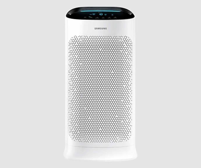 """**Samsung AX5500K Air Purifier with Wi-Fi, $799, [The Good Guys](https://www.thegoodguys.com.au/samsung-ax5500k-air-purifier-with-wi-fi-ax60t5080wd target=""""_blank"""" rel=""""nofollow"""")**.<br><br>Samsung's range of air purifiers have all been awarded the Sensitive Choice award from the National Asthma Council of Australia, thanks to their highly effective HEPA filter that ensures the cleanest of air is circulated throughout the room. The AX5500K model covers an extensive 60 metre squared space, ensuring your expansive open plan living areas are filled with the cleanest of air. If you want even more clean air, Samsung also offers a sister unit that can cover up to 90 metres squared."""